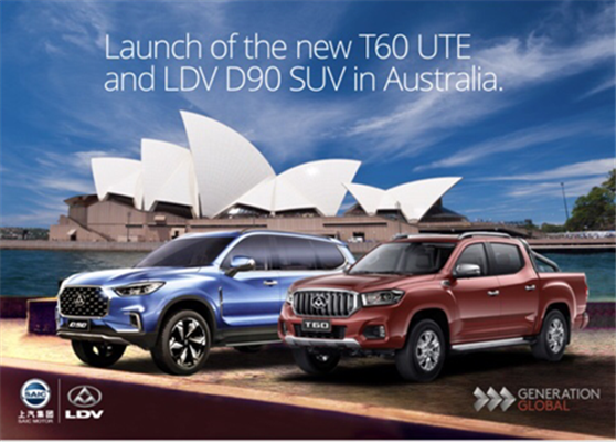 77556ed99d Launch of the new LDV T60 UTE   D90 SUV in Australia and New Zealand